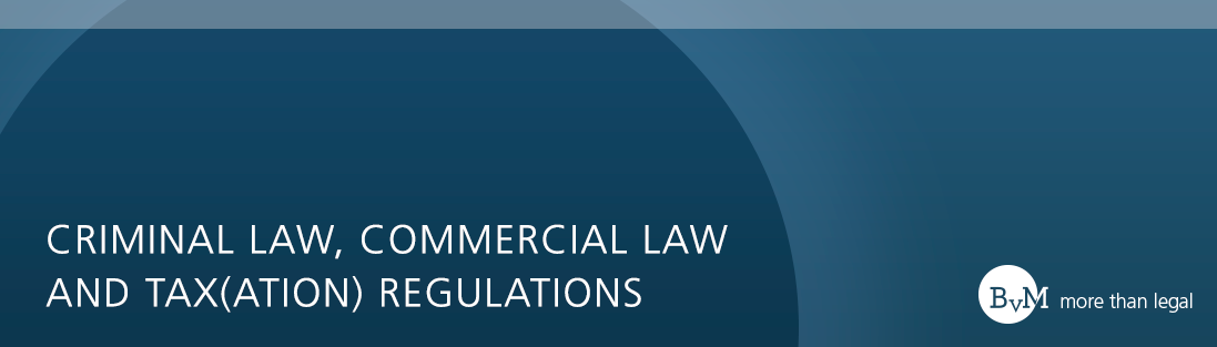 Brehm von Moers Criminal law, Commercial Law and Statutory Tax Regulations